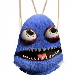 3D uśmiechnięty potwór - plecak ze sznurkami