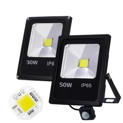 10W 30W 50W / AC 220V 240V - lampa LED z czujnikiem ruchu - IP65 wodoodporna