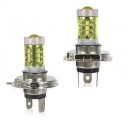 80W - H1 H3 H4 H7 H8 9005 9004 / 4300K LED 2835 - Bombilla de 12V - faros antiniebla amarillos - faros - 2 piezas