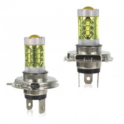 80W H1 H3 H4 H7 H8 9005 9004 / 4300K żarówka Led 2835 - 12V samochodowe złote światło przeciwmgielne 2 sztuki