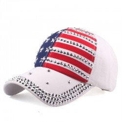 Baseball cap with USA flag & metal spikes - unisex