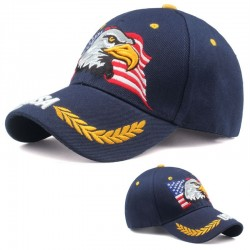 Czapka bejsbolowa z flagą USA & orłem - unisex