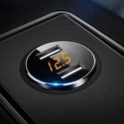 Chargeur voiture universel double USB 3.6A avec affichage LED