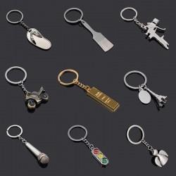 Klapki & sygnalizacja świetlna - metalowy brelok do kluczy