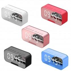 G5 kabelloser Bluetooth-Lautsprecher mit Spiegel-LED-Wecker - unterstützt TF-Karte
