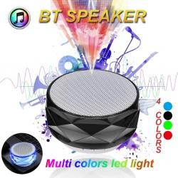 Altoparlante wireless Bluetooth con LED - supporto TF card