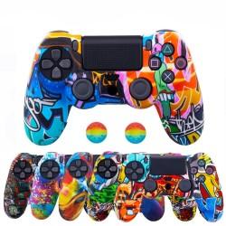 Playstation Dual Shock PS4 Pro Slim - ochronna skóra dla kontrolera & 2 nasadki na kciuki