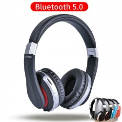 MH7 słuchawki bezprzewodowe - zestaw słuchawkowy Bluetooth - składane - mikrofon - karta TF