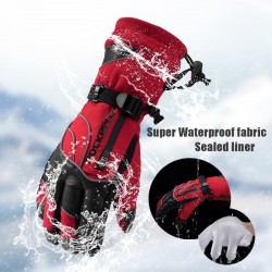 -30 degree waterproof windproof thermal ski snowboard gloves
