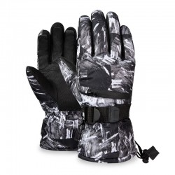 Termiczne rękawiczki narciarskie - wodoodporne - design z 3 palcami dotykowymi
