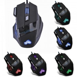 Optische Gaming-Maus mit LED - USB-Kabel - 5500 DPI - 7 Tasten