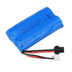 HS 18650 7.4V 1200mAh 25C 2S - batterie li-ion - prise anti-retour pour voiture Rc 18301/18302 18311/18312