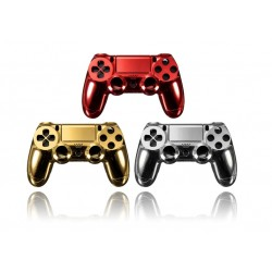 Playstation 4 Controller PS4 Gold - Red - Chrome Shell Case