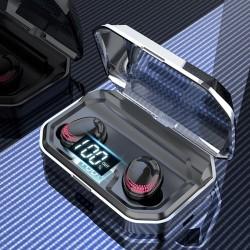 X10 - Bluetooth tws earbuds - LED-Anzeige - kabellose Ohrhörer - 8D-Stereo-Headset mit 3000-mAh-Ladetasche