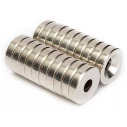 N50 neodymowy magnes - silny pierścień stożkowy 12 * 3mm z 4mm otworem 20 sztuk