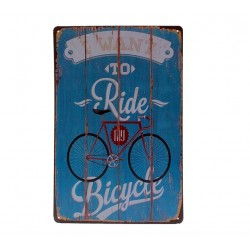 I Want To Ride My Bicycle Metalowy Napis Plakat