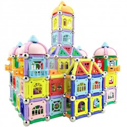 Palos magnéticos con bolas de metal - bloques magnéticos - construcción de edificios de castillos