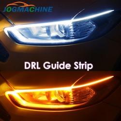 Kierunkowskazy samochodowe DRL - elastyczny pasek LED - wodoodporny 2 sztuki