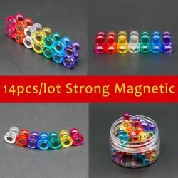 Pinezki magnetyczne neodymowe kciuki - magnesy na lodówkę 14 sztuk