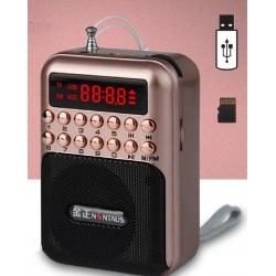 Przenośne - ładowalne mini radio - obsługa karty TF - USB - odtwarzacz MP3