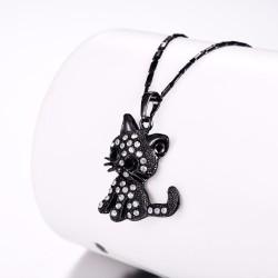 Kryształowy kotek - elegancki naszyjnik