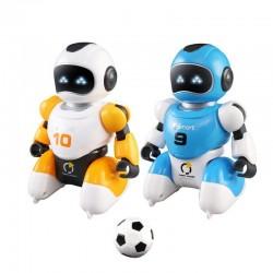 Inteligentny robot piłkarski - USB - pilot - śpiew - taniec - zabawka RC - zestaw
