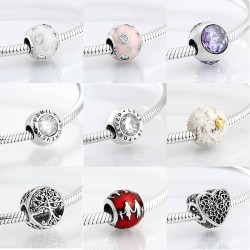 925 sterling silver - round beads for bracelet