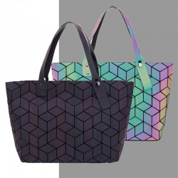 Women bags - handbag geometry totes - sequins mirror plain - folding shoulder bags - luminous bags