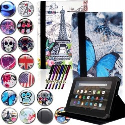 Amazon Fire 7 protective cover case - leather - tablet stand - incl. stylus pen
