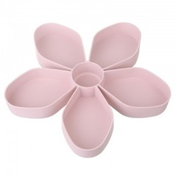 MICCK petal-shape rotating snack box - candy tray - food storage