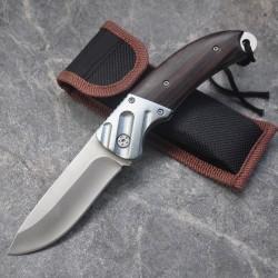 Mini coltello da tasca con manico in legno - pieghevole 15 cm