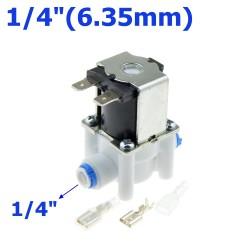 """Électrovanne en plastique - tuyau de 1/4 """"-3/8"""" - système d'osmose inverse à eau RO à connexion rapide"""