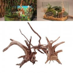 Natural tree trunk driftwood - aquarium fish tank reptile cylinder