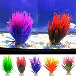 Sztuczna roślina zielona - trawa dekoracyjna do akwarium