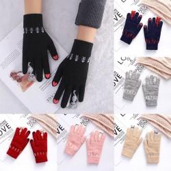 Dziane ciepłe rękawiczki z funkcją ekranu dotykowego