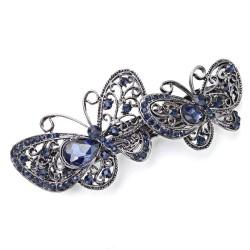 Spinka do włosów z kryształowym motylem