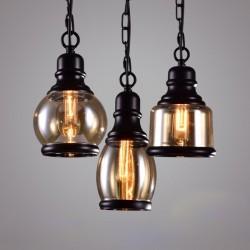Retro żelazo & szkło - lampa LED