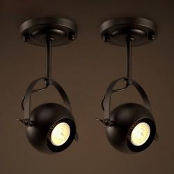 E27 - okrągła lampa sufitowa w stylu retro - światło regulowane
