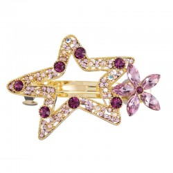 Star shaped hair clip with crystals