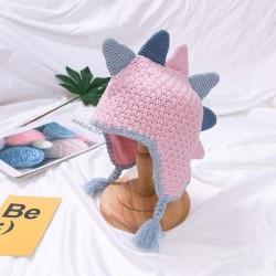 Mały dinozaur - ręcznie robiona czapka zimowa dla dzieci