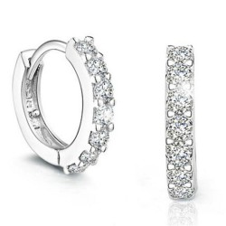 Luxury round crystal earrings