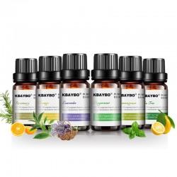 KBAYBO 10ml*6 bottles pure essential oils - lavender tea tree - lemongrass tea tree - rosemary orange oil