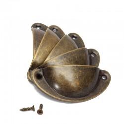 Maniglie per mobili a forma di conchiglia con viti - 8 pezzi