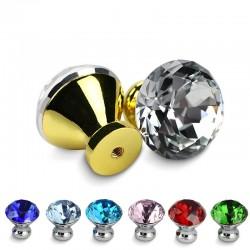 Tiradores para muebles con tornillos - pomos de cristal - 30 mm - 5 piezas