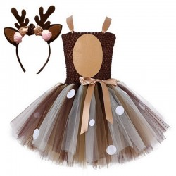 Renne di Babbo Natale - costume da ragazza - vestito - set